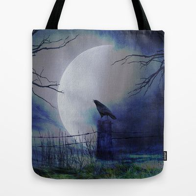 Whit this beautiful moon Tote Bag by Oscar Tello Muñoz - $22.00