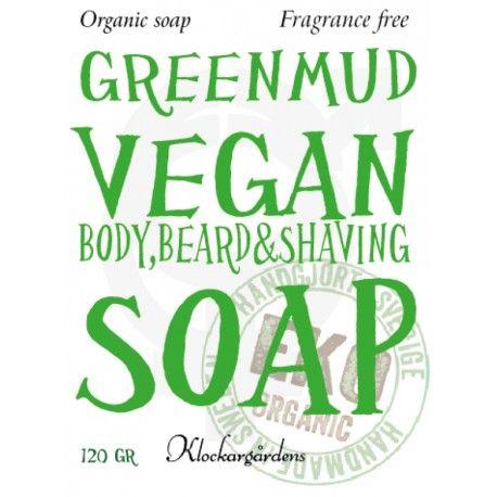 raktvål GREEN MUD VEGAN är en härlig ekologisk tvål som kan både användas som raktvål med fantastiskt glid och som en fantastiskt löddrande och renande duschtvål som gör din hud len.