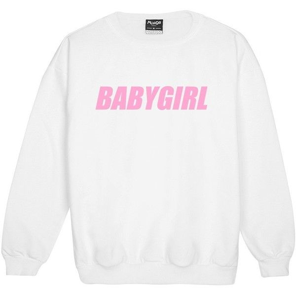 BABYGIRL SWEATER ($22) ❤ liked on Polyvore featuring tops, sweaters, grunge tops, baby doll sweater, retro tops, hipster tops and white babydoll top