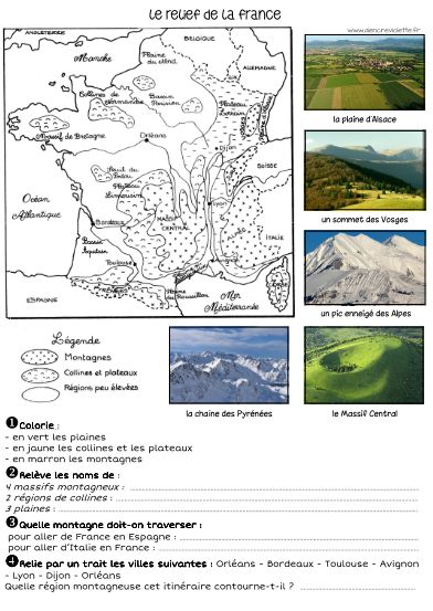 LA FRANCE   Géographie cm1, Géographie ce2 et Géographie cycle 3