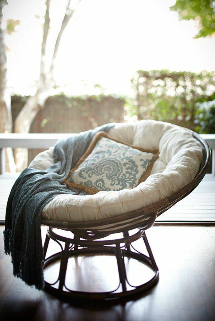 chouette fauteuil rotin style rustique cool idée à recreer maison stylée