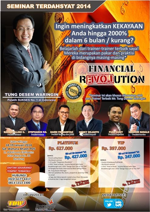 Seminar Tung Desem Waringin, Financial Revolution