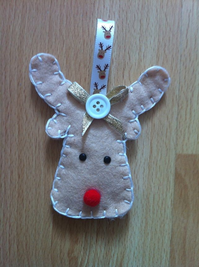 """Raymond the Reindeer"" Felt Christmas Decoration   £3.00"