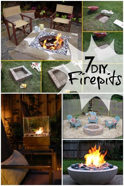 7 DIY Firepit Tutorials | Tipsaholic.com #outdoor #diy #firepit #backyard