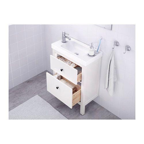HEMNES Wash-stand with 2 drawers - white, 60x30x83 cm - IKEA