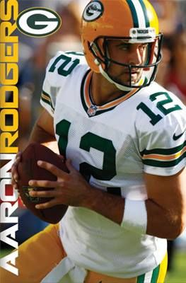 Aaron Rodgers SERIOUS GAME Green Bay Packers NFL Football QB Action Poster http://clektr.com/suj