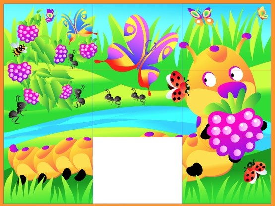 Wee Kids Puzzle #puzzle #kids #app #colorful #education #kid #preschool #caterpillar #garden #flowers  #ipad #iphone #android #iOS #Windows