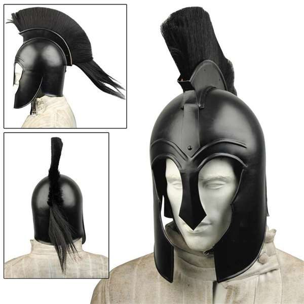 Black Achilles Trojan Helmet