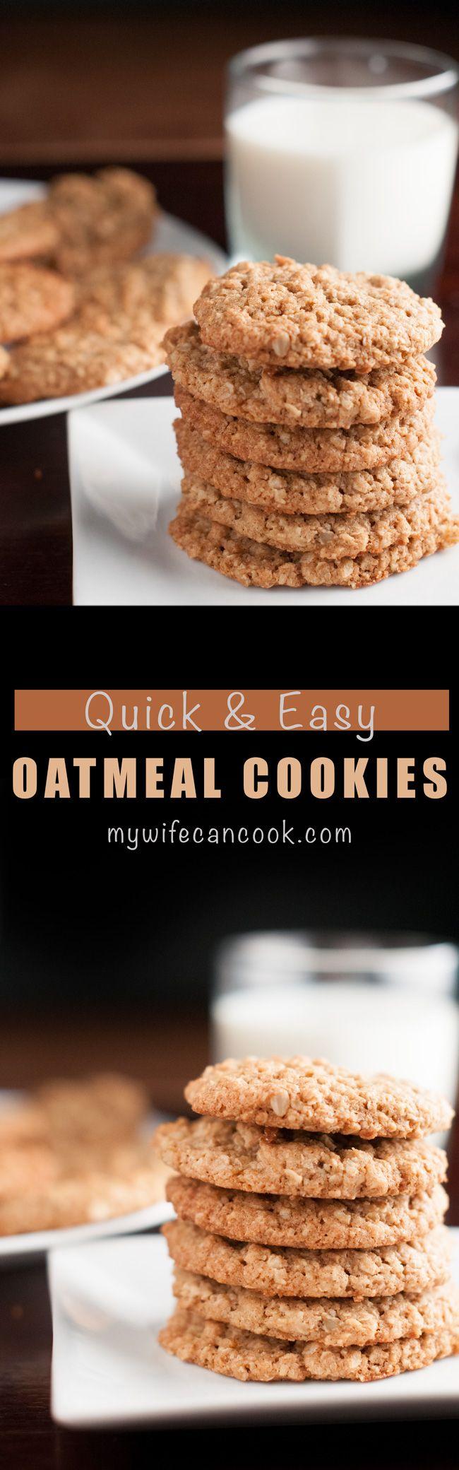 Homemade quaker oatmeal cookies recipe