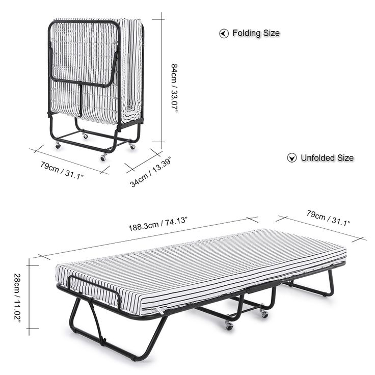 Best Black Ikayaa Metal Frame Single Folding Bed Cot With 640 x 480