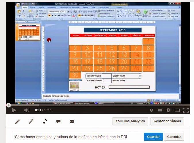 Cómo hacer asamblea y rutinas de la mañana en Infantil con la PDI - CUENTATUBE. Videoblog infantil