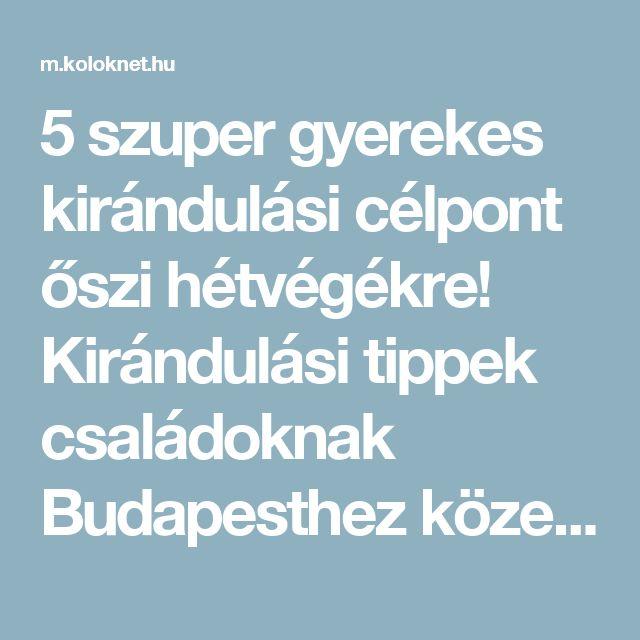 5 szuper gyerekes kirándulási célpont őszi hétvégékre! Kirándulási tippek családoknak Budapesthez közel! | Kölöknet