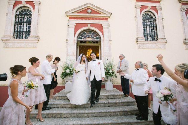 Greek wedding in a village church in Kefalonia. Photo by Adrian Wood