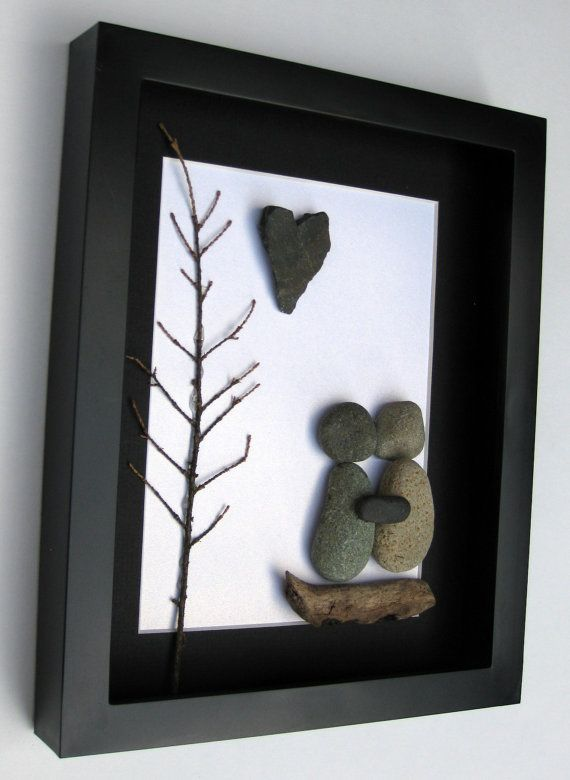 Unique Engagement Gift Personalized Couple's Gift  by SticksnStone, $65.00
