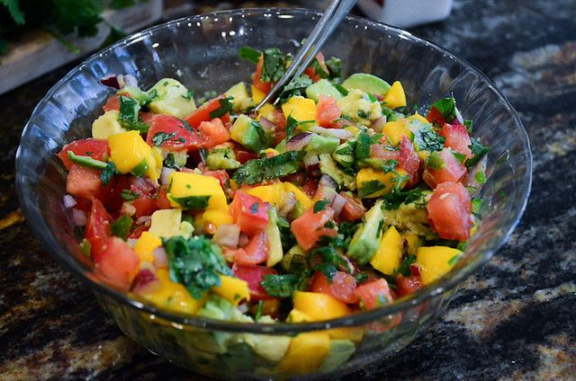 Mango avocado salsa | Taco Night | Pinterest