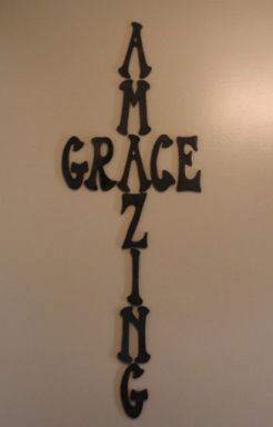 Amazing Grace Cross. Perfect for the center of my cross wall. #AspenHeights