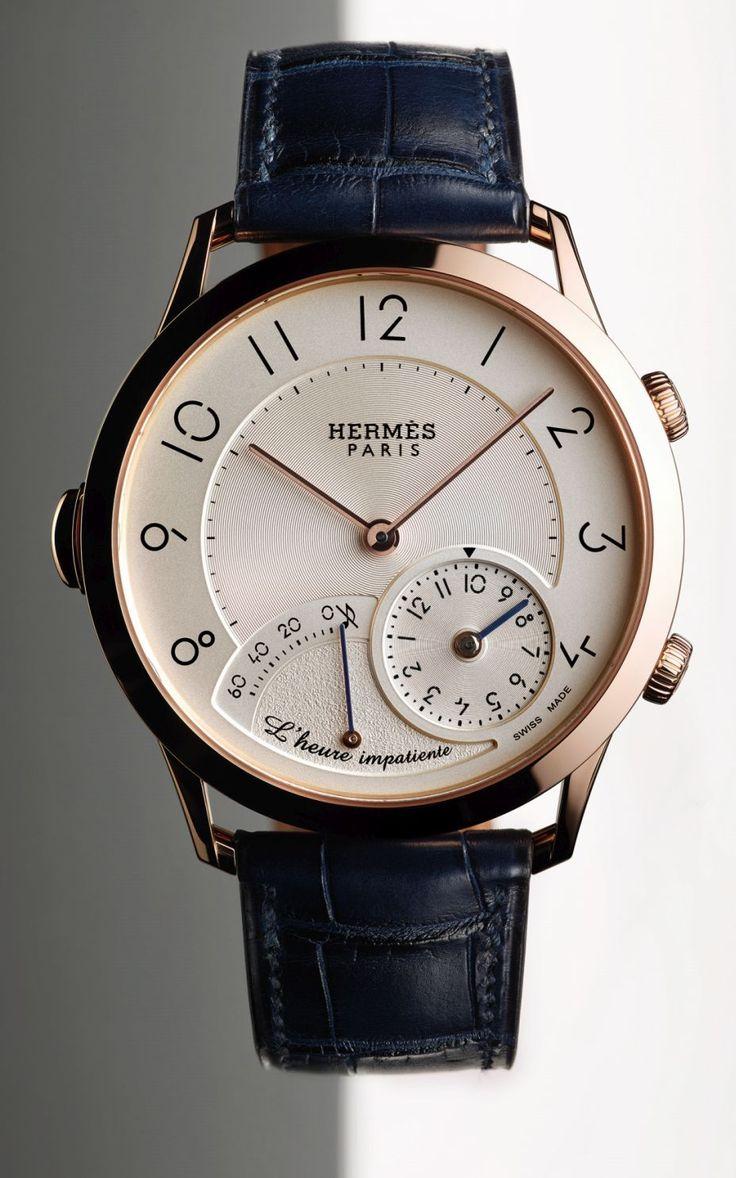 TimeZone : Industry News » Basel 2017 - Slim d'Hermès L'heure Impatiente