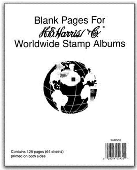 Other Stamp Supplies 705: He Harris Blank Pages Worldwide