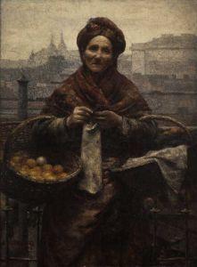 """Aleksander Gierymski """"Żydówka z cytrynami (Pomarańczarka)"""" (1881), Muzeum Śląskie w Katowicach"""