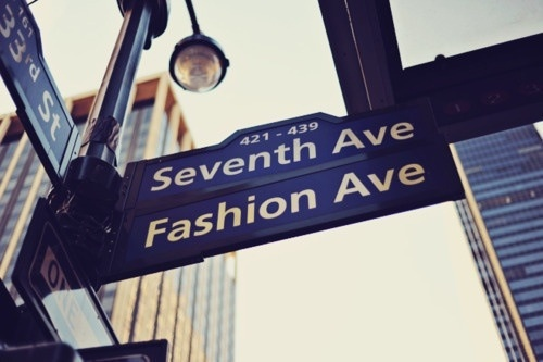 Seventh ave. fashion ave. #NYC