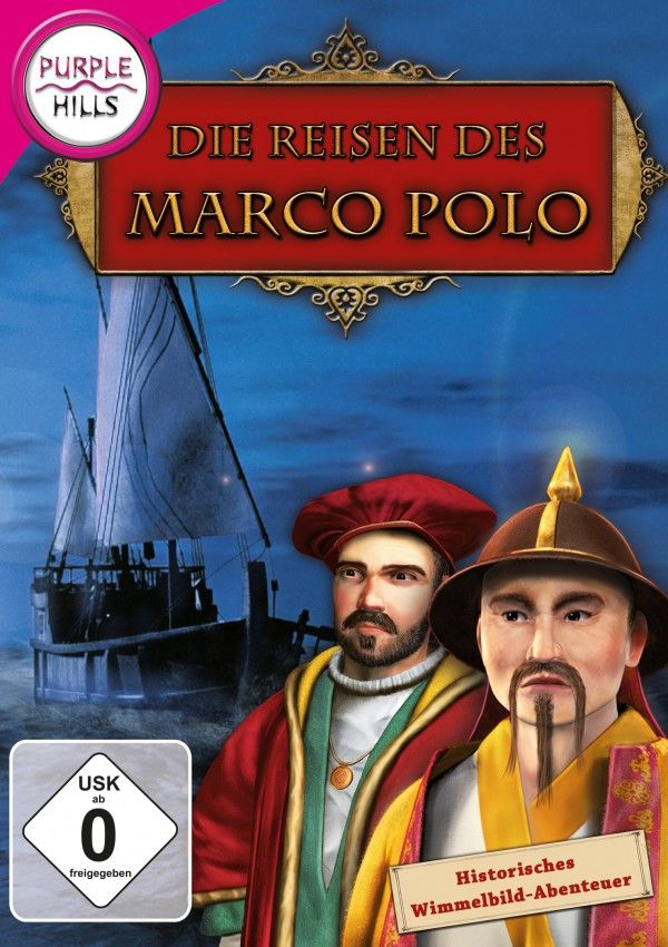 Die Reisen des Marco Polo - Schlüpfe mit diesem schönen Wimmelbildspiel in die Haut des jungen Marco Polo und begleite deinen Vater, Niccolò Polo, auf abenteuerlichen Reisen. Entdecke Asien und die Länder der aufgehenden Sonne, den Orient!  Macht, Liebe und Verrat, all das begegnet dir auf deinem Weg zum Palast des großen Kublai Kahn. Du wirst zu seinem Berater, doch kannst du es nun schaffen wieder in deine Heimat Venedig zurück zu kehren?