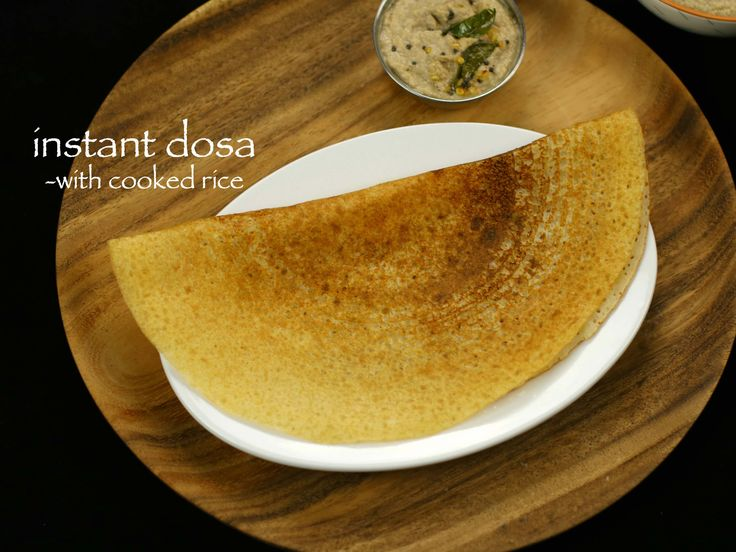 instant dosa recipe with left over rice, instant cooked rice dosa recipe with…