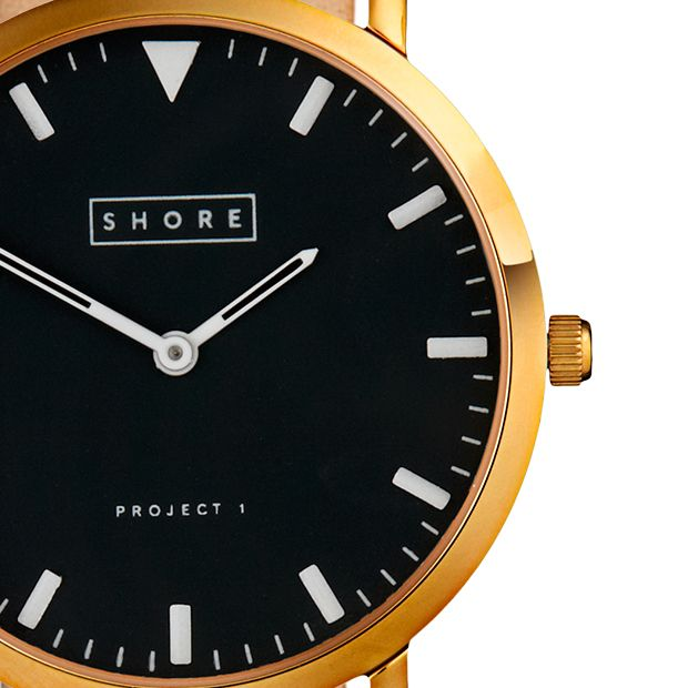 St Ives by Shore Projects (gold/dark brown) now available at Dezeen Watch Store: