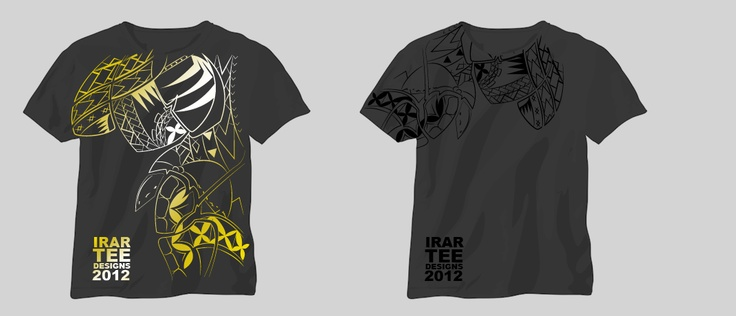 Illustrated graphics applied to tee