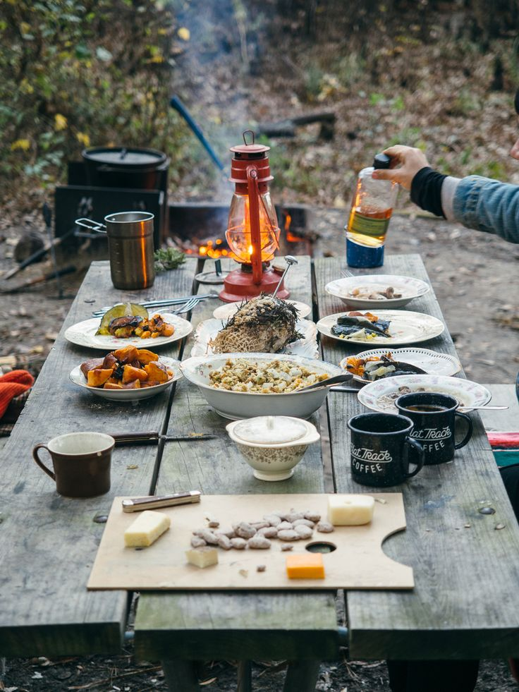 """americayall: """"New camp cookery post up on the blog featuring our thanksgiving feast. http://americayall.com/home/2014/12/7/camp-cookery-thanksgiving-feast.html """""""
