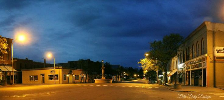 An early morning in downtown geneseo ny the beauty of