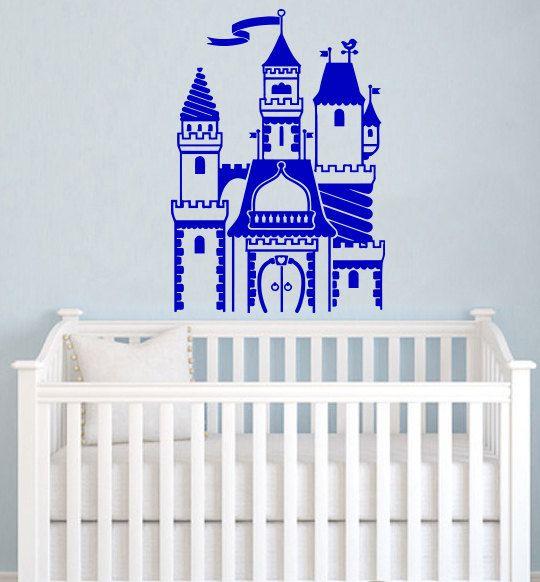 Decalcomania - muro decalcomanie muro vinile Decal Sticker Interior Decor Camera dei bambini Decor bambini camera parete del castello del principe Decal Nursery Decor SV5419