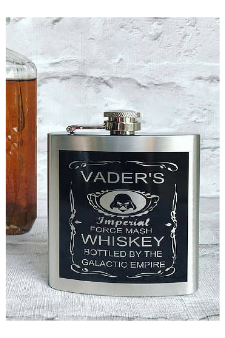 Star Wars hip flask,Hip flask, stainless steel hip flask, gift for him, best man gift, fathers day gift, groom gift, birthday gift #starwars #dathvader #flask #whiskey #geek #men #giftforhim #affiliatelink #commissionlink