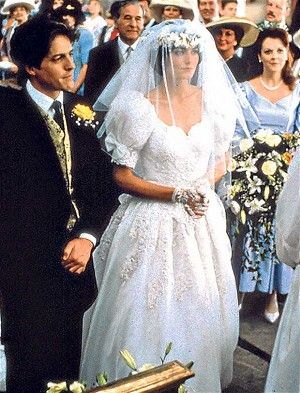 Anna Chancellor And Hugh Grant In Four Weddings A Funeral