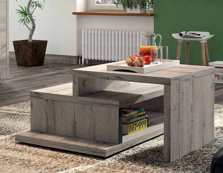 Table basse contemporaine couleur chêne gris AURILLAC