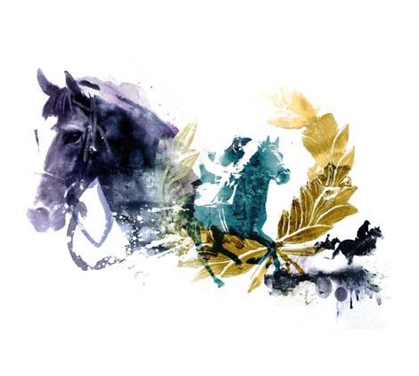 Horse Race - Top Magazine UK - Illustration by ©Luis Tinoco - WWW.LUISTINOCO.COM