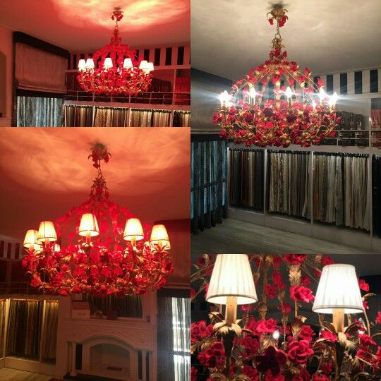 Tiziano 12 lights Red Velvet