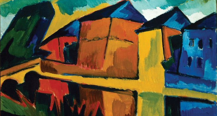 Houses by the Cannal, Karl Schmidt-Rottluff, 1912