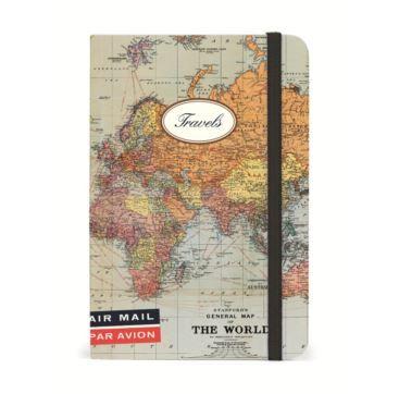 Small Notebook World Map Trav - Bobangles #Cavallini #vintage #map #notebook #travel #stationery