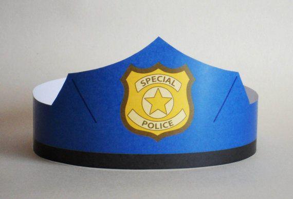 Police Paper Crown Printable por PutACrownOnIt en Etsy