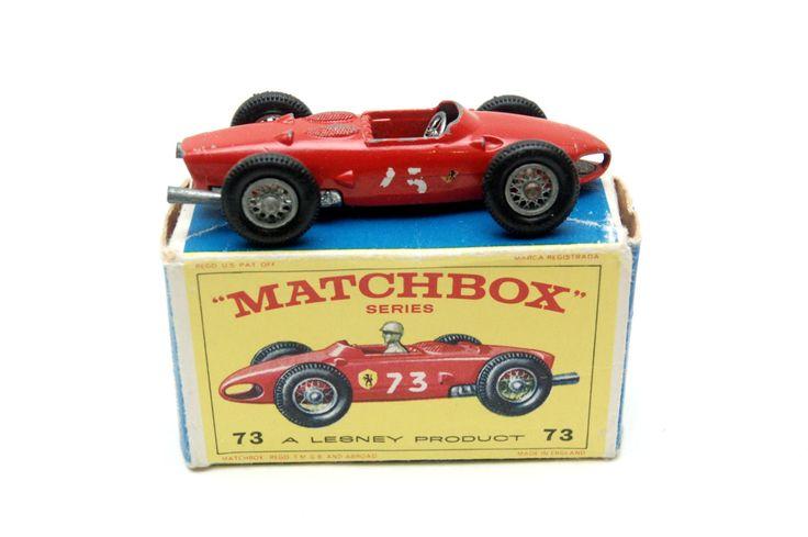 No. 73b Ferrari Racing Car w/Original Box 1962 by Matchbox Lesney toy Car Great Gift Stocking Stuffer by RememberWhenToys on Etsy