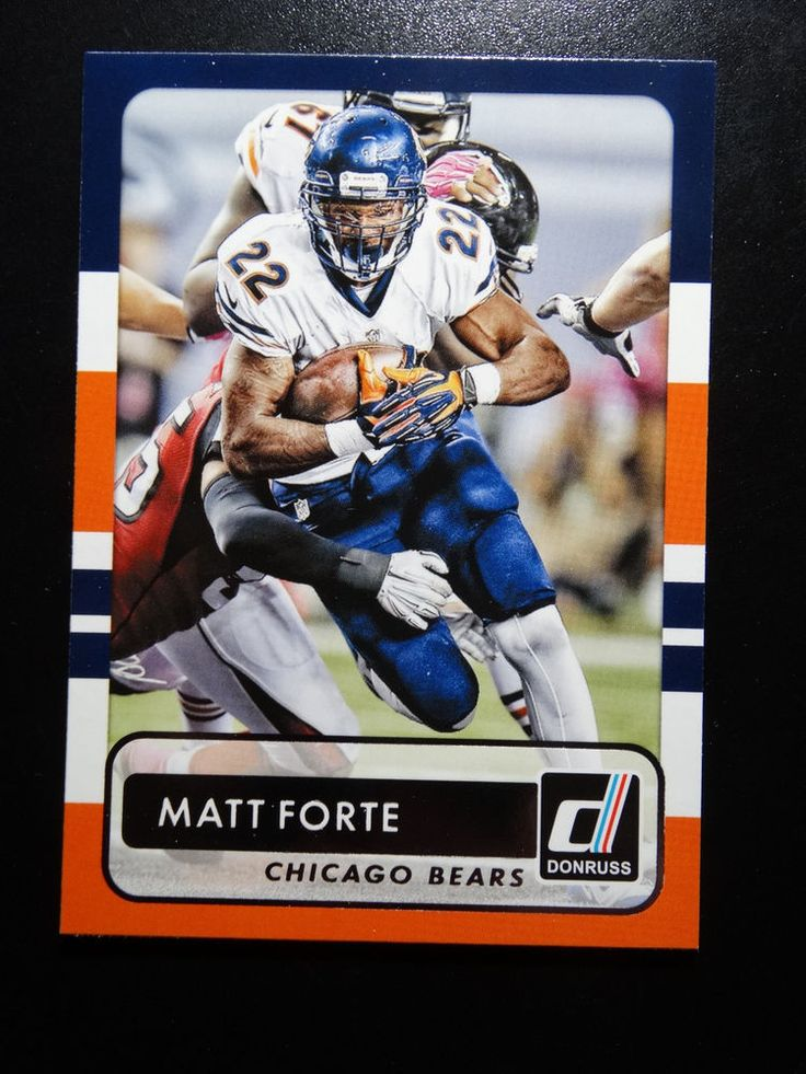 2015 Panini Donruss #34 Matt Forte Chicago Bears Card #ChicagoBears