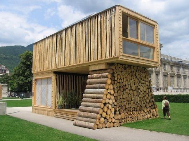 15 pines de casas ex ticas que no te puedes perder for Tejados de madera prefabricados