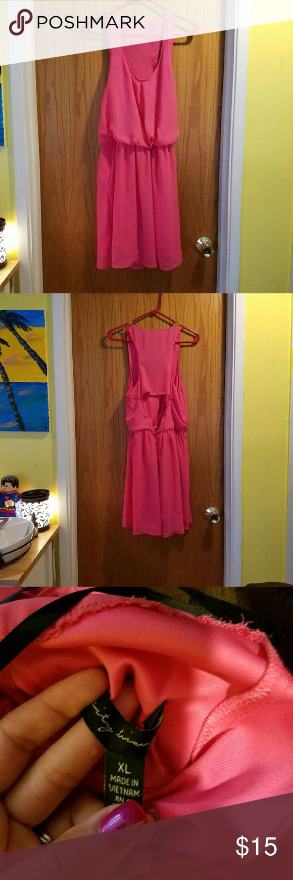 Hot Pink Sundress Great condition, worn only one time Dresses Mini