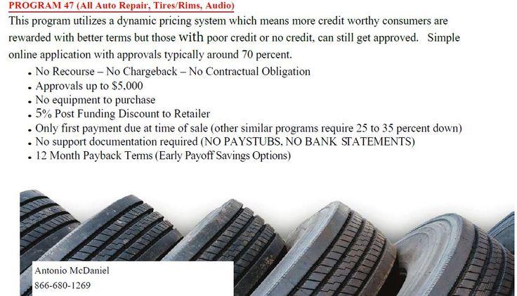 Auto Repair Financing Program Auto Repair / Tire & Rim