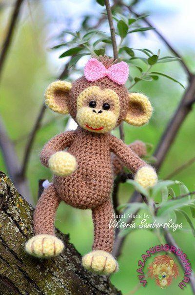 Вязаная обезьянка :) Описание Автор: Виктория Самборская - Игрушки крючком