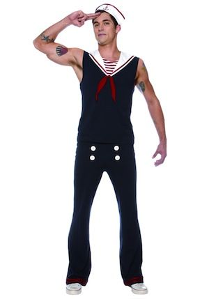 Sexy Sailor Gay Halloween Costume. Great attention to detail on the outfit. #halloween