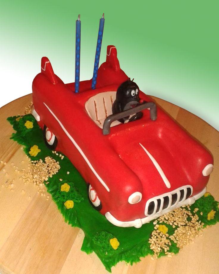 Marcipánový dort Krteček /  Little mole fondant cake
