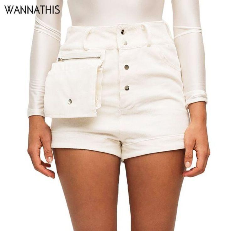 16.01 $ Shorts Wannathis Sommer Kurze Hosen Cord Hohe Taille Big Po – Kurze …   – Shorts