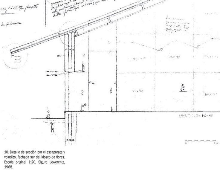 Drawings via: ¿MENOS O MÁS? LA CONSTRUCCIÓN DEL KIOSCO DE LEWERENTZ EN EL CEMENTERIO DE MALMO / Less or more? The construction of Lewerentz's kiosk in the Malmo Cemetery Ingrid Campo-Ruiz