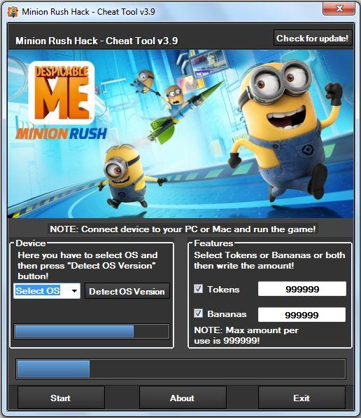 Minion Rush Hack v3.9